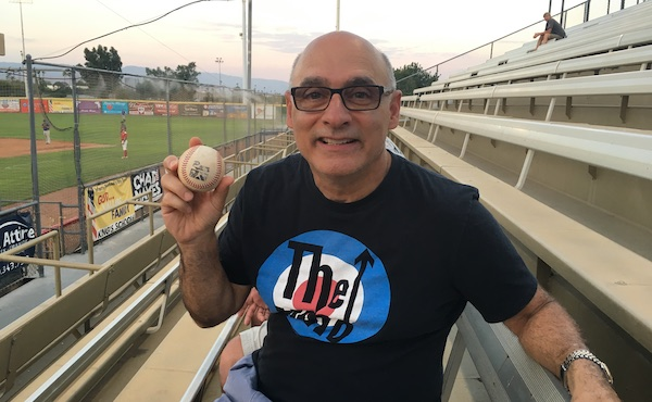 Larry catches his first fall ball in Lake Elsinore